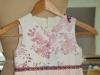 Matching printed flower girl dress