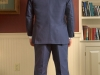 Mens hemp suit navy bespoke jacket and vest  (11)