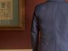 Mens hemp suit navy bespoke jacket and vest  (12)