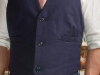 Mens hemp suit navy bespoke jacket and vest  (2)