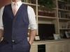 Mens hemp suit navy bespoke jacket and vest  (4)