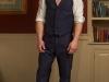 Mens hemp suit navy bespoke jacket and vest  (5)