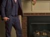 Mens hemp suit navy bespoke jacket and vest (7)