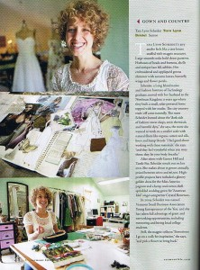 Vermont Life features sustainable wedding dress designer.