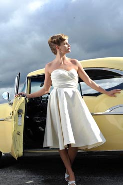 Be Stunning in a 1950's style wedding dress by Tara Lynn bridal