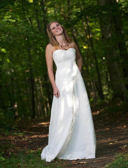 Bohemian Wedding Dress hemp hippie wedding dress