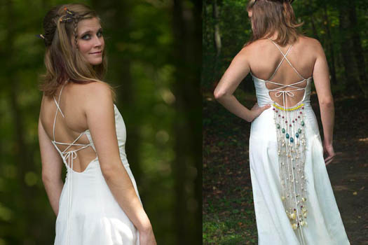 Bohemian Wedding Dress Organic Wedding Dress