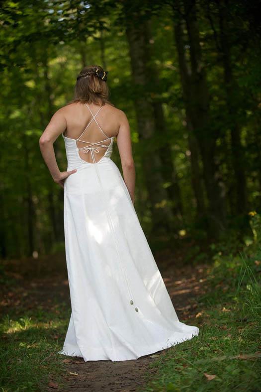 Bohemian Wedding Dress hemp and organic cotton hippie wedding dress
