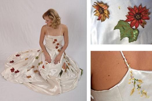 Fall Foliage Wedding Dress