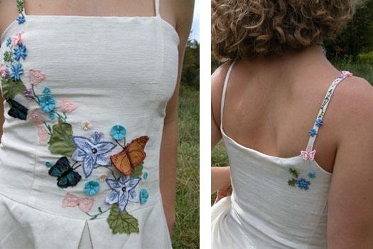 floral wedding dresses embroidered