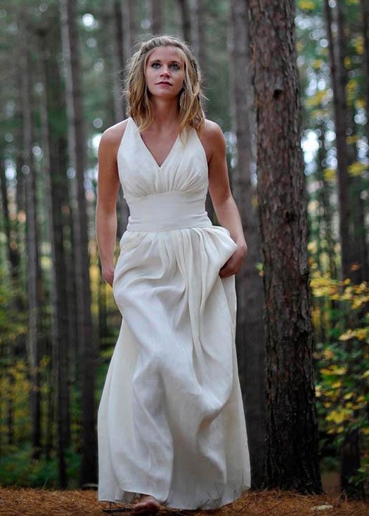 Hemp Goddess wedding dress