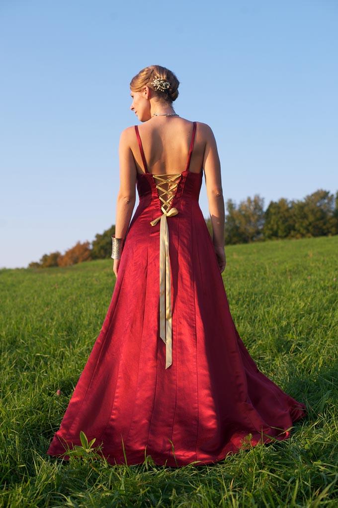 Lace-up Wedding Dress
