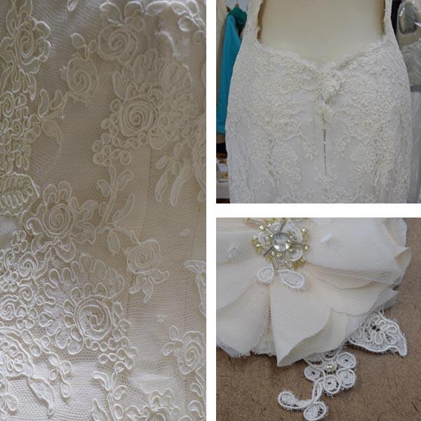 custom lace wedding dress by Tara Lynn