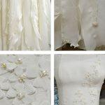 Couture Seashell beaded wedding dress by Tara Lynn