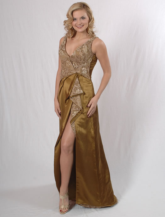 Miss Vermont's eco-friendly gown