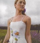 Based in Vermont, Tara Lynn creates and ships her custom eco-wedding gowns
