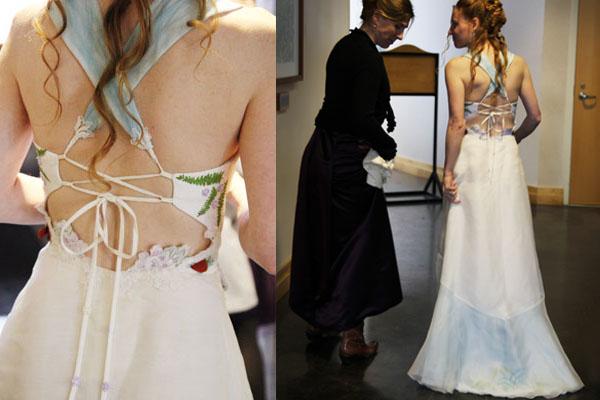 hemp silk wedding dress eco wedding out door wedding rustic wedding Tara Lynn Bridal Custom wedding dress
