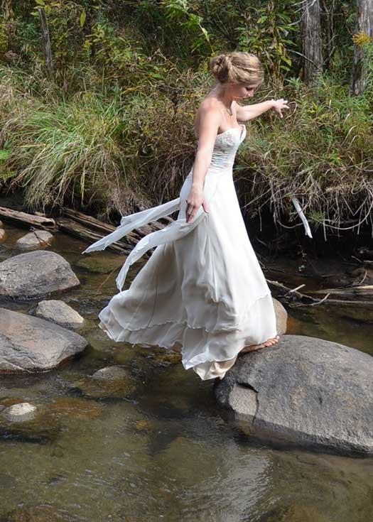 ethereal medieval wedding dress