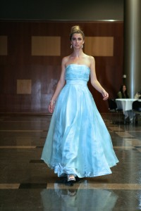 This glamorous blue dress, Grace, is from Tara Lynn's Vintage Bride Collection