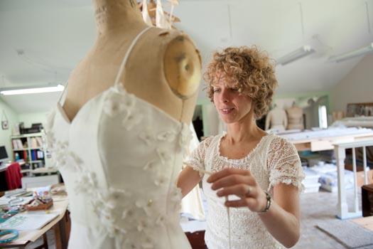 Vermont handmade wedding dress by Tara Lynn