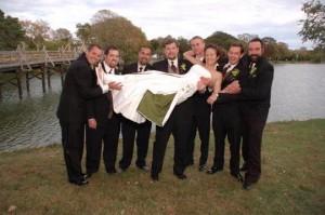organic cotton wedding dresses hippie wedding dress eco green and white wedding dress with ivy leaves by Tara Lynn Bridal