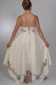Heather's Butterfly Applique Cotton Wedding Dress