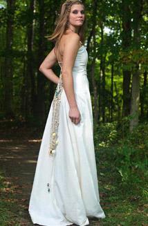 Aphrodite, our Seashell Train Wedding Dress $1,200 - $2,200