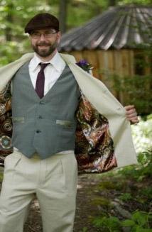 Bespoke suit hemp suit
