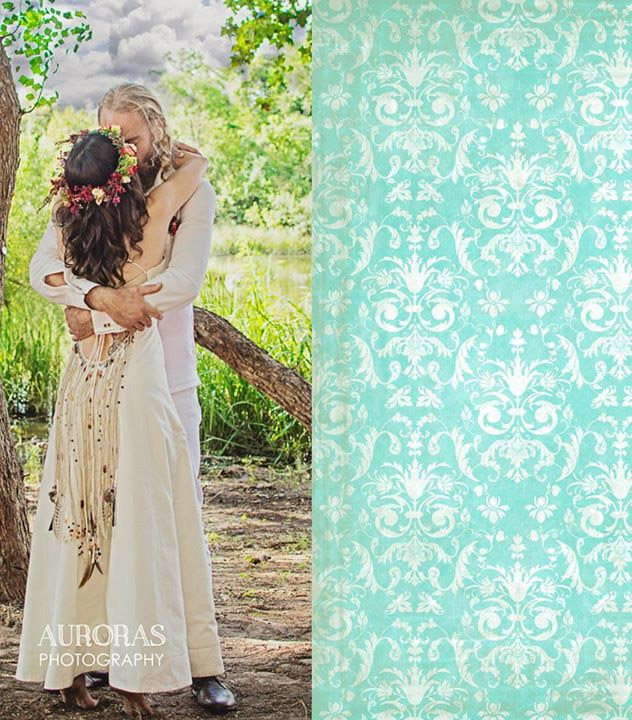 Bohemian Beaded Wedding Dress by Tara Lynn