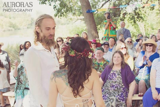 Bohemian Wedding Dress Ceremony
