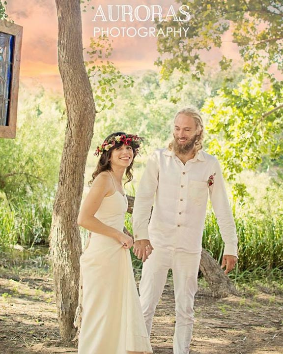 Bohemian Wedding Dress made of hemp