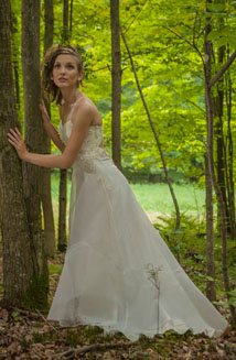 Persephone, Ethereal Hemp Wedding Dress $2,600