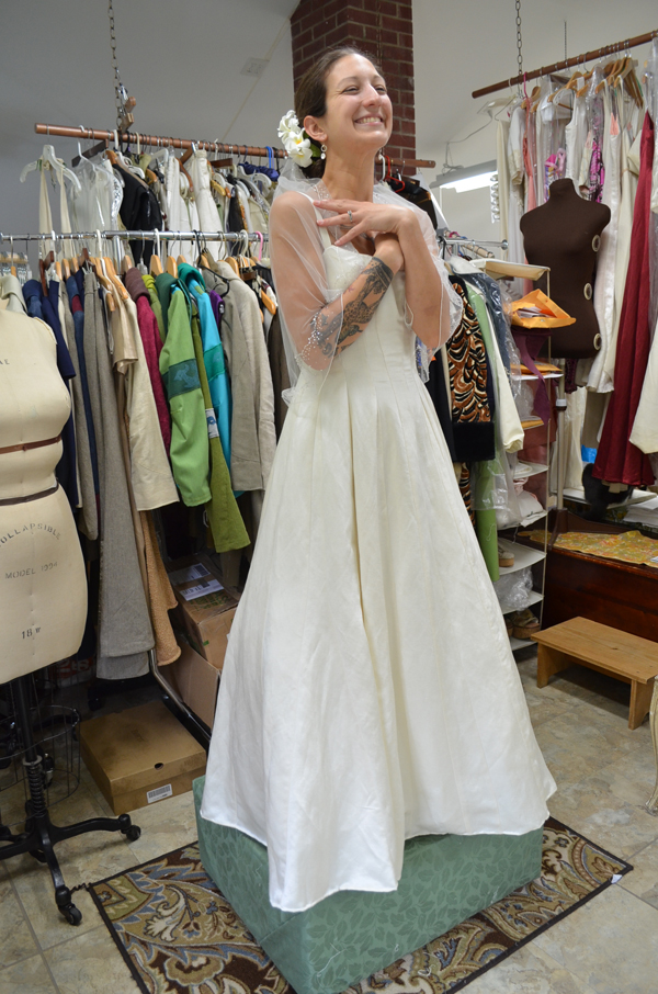 Hemp wedding dresses made in Vermont