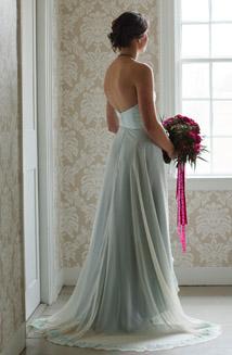 Blue Vintage Style Wedding Dress