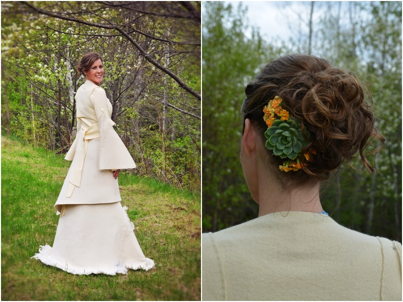 organic wool wedding dress