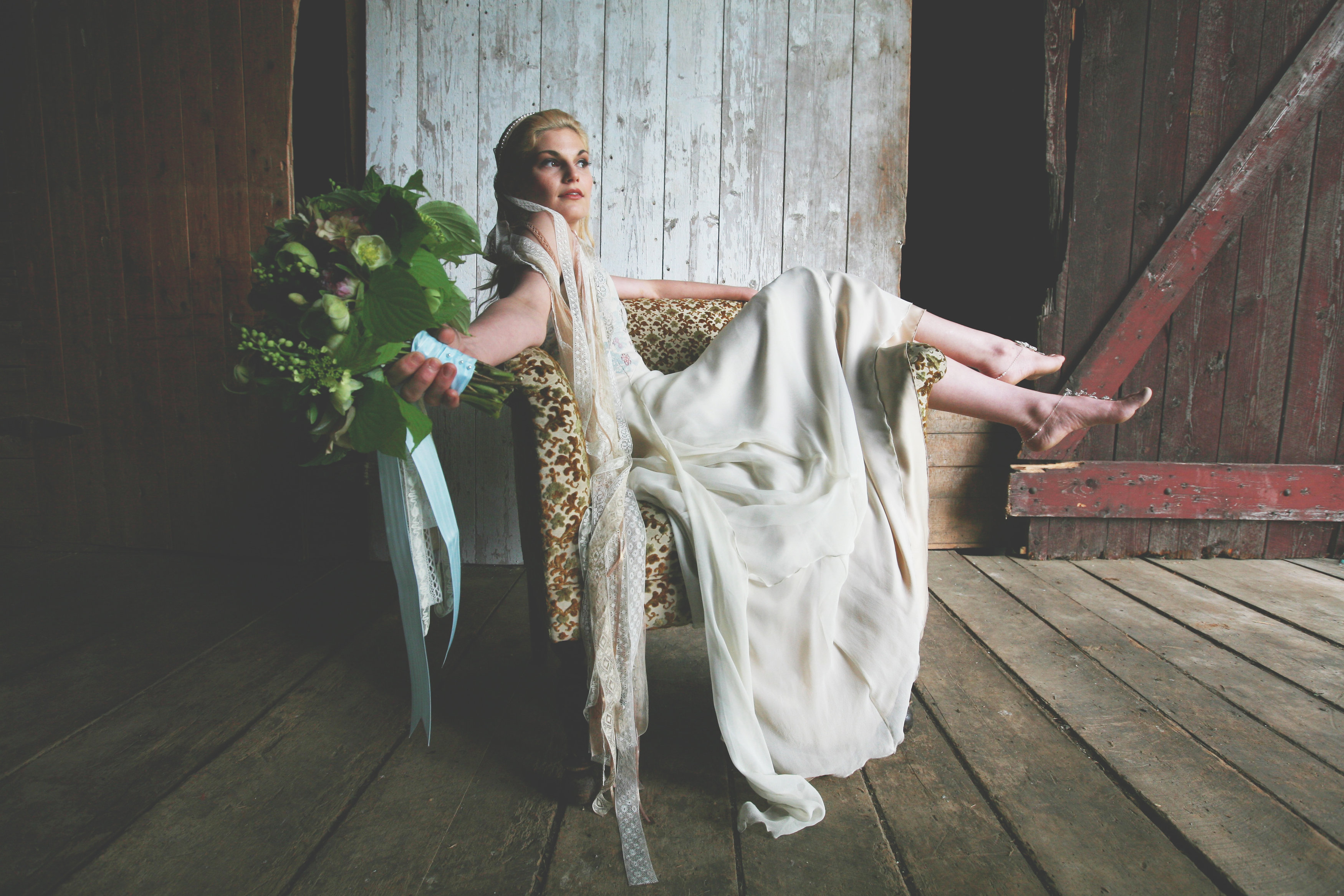 A Boho Wedding Dress