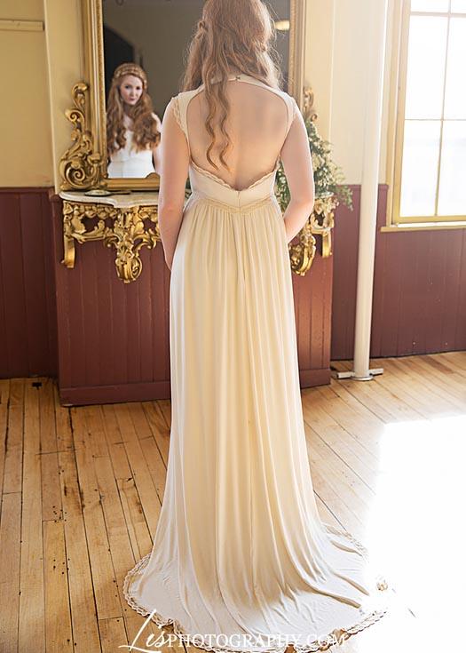 Vegan Wedding Dress Backless