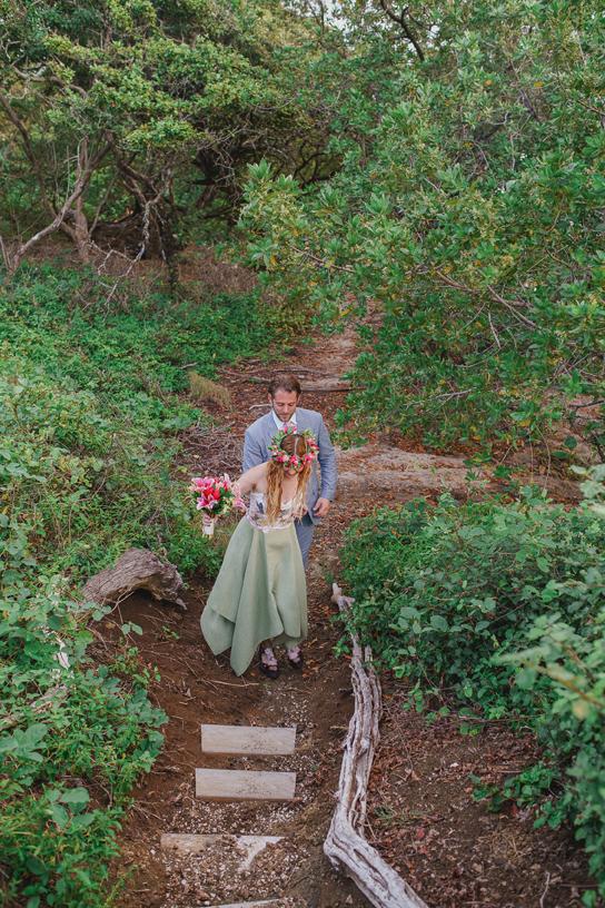 Bohemian wedding dress for the beach tara lynn bridal for Woodland fairy wedding dress