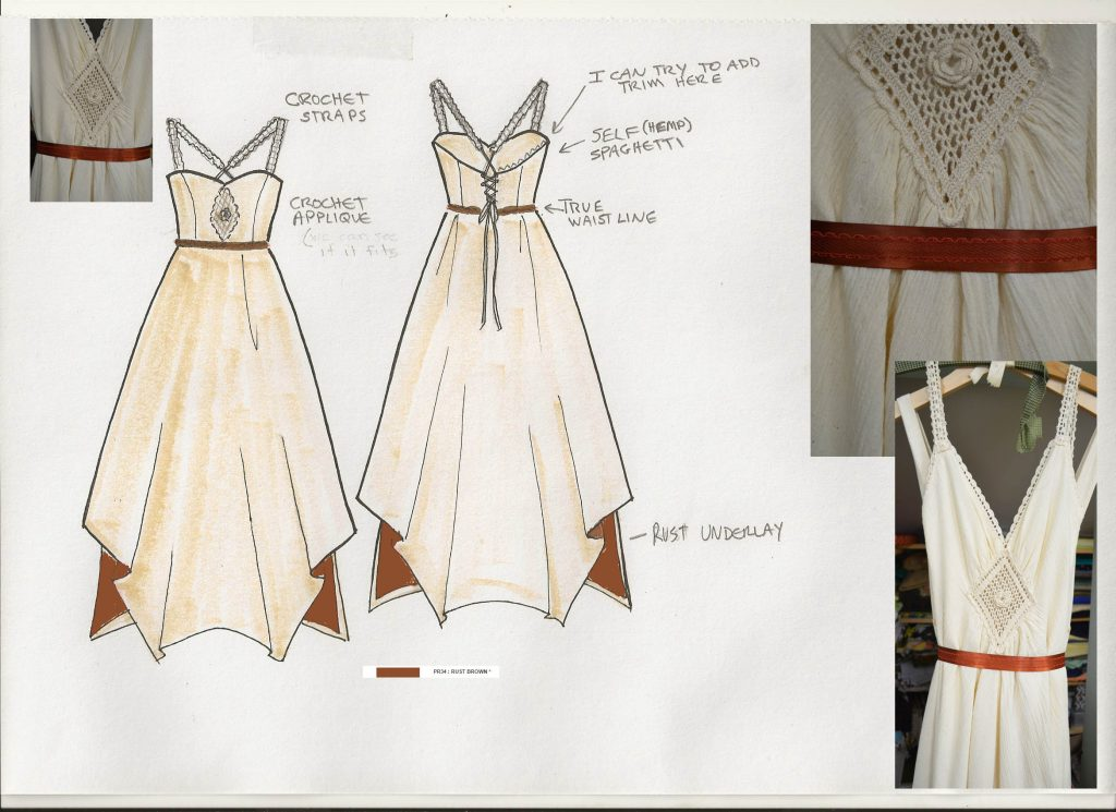 Customized wedding dresses by Tara Lynn Bridal Hemp Cotton dress