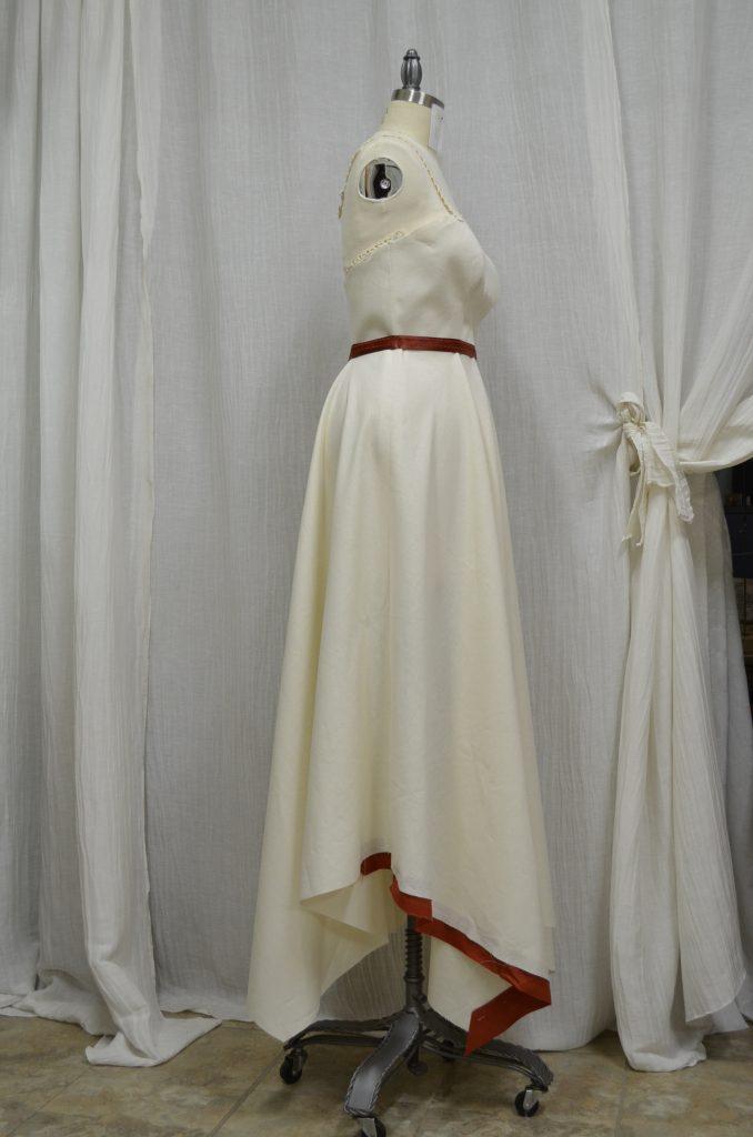 Hemp Cotton wedding dress customized by Tara Lynn Bridal