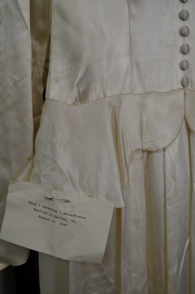 Heirloom wedding dress remade into modern wedding gown by Tara Lynn Bridal