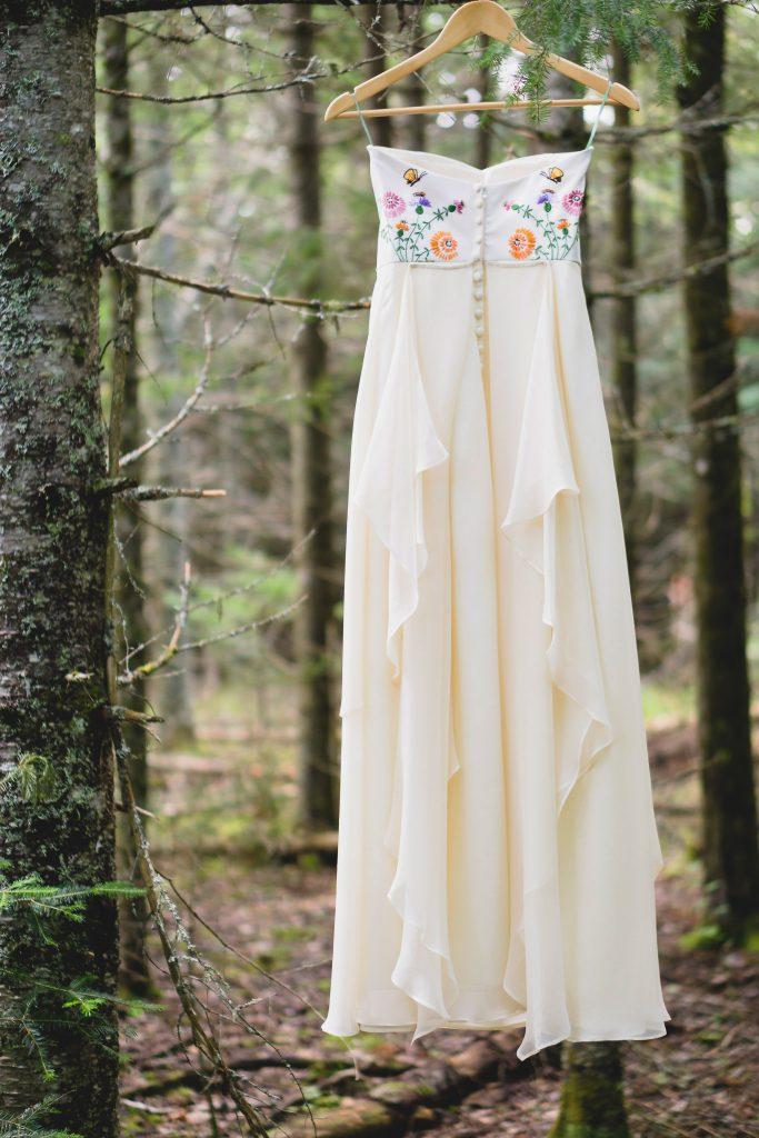 Custom made heirloom wedding dress
