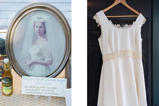 repurposing heirloom wedding dresses