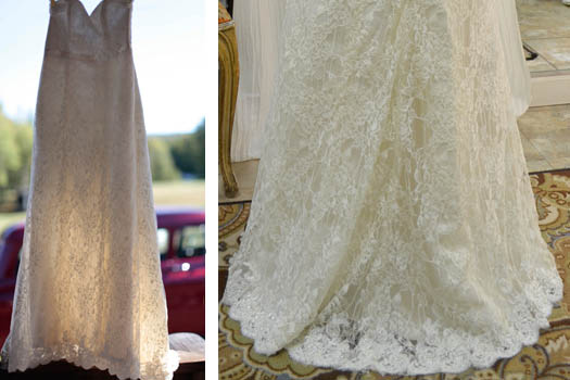 repurposed heirloom lace wedding dress
