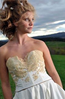 Chiara is an Eco-Friendly Vintage Lace Wedding Dress $2,600