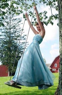Grace is a Stunning Eco-Friendly Vintage Blue Wedding Dress, $2,150