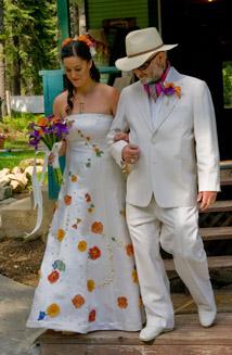 Hillary's Eco-friendly Hemp and Seashell Wedding Dress