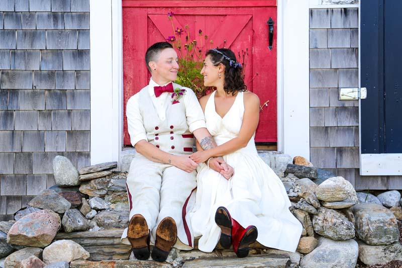 Custom eco-freindly wedding dress and hemp suit