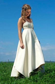 Maya is a Hippie Wedding Dress Made of Hemp and Organic Cotton, $1000