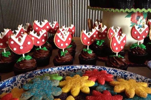 Piranha Plant Cupcakes